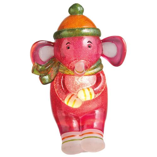 "6"" Genuine Monkeez and Friends Pink Elroy Elephant Children's Night Light - IMAGE 1"