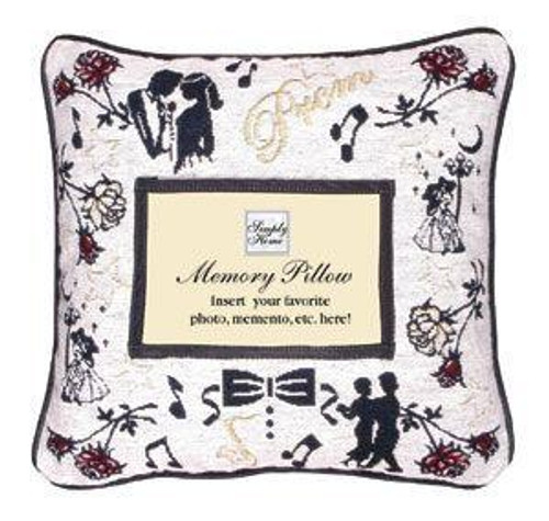 """12"""" Red and Black Prom Themed Square Throw Pillow - IMAGE 1"""