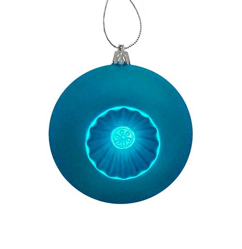 """6ct Turquoise Blue Shatterproof Matte Christmas Ball Ornaments 4"""" (100mm) - IMAGE 1"""