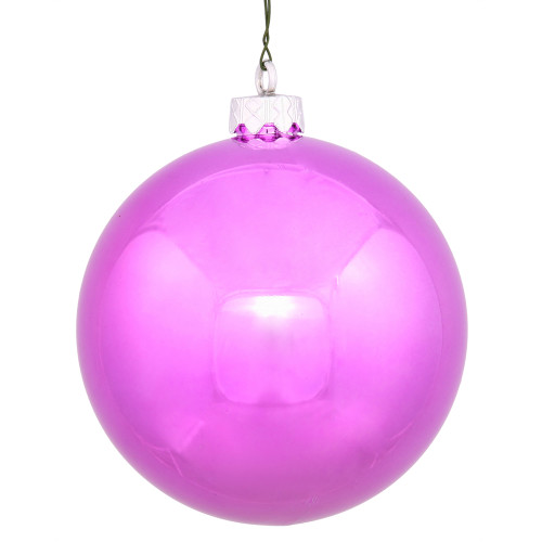 "Shiny Orchid Pink UV Resistant Commercial Shatterproof Christmas Ball Ornament 2.75"" (70mm) - IMAGE 1"