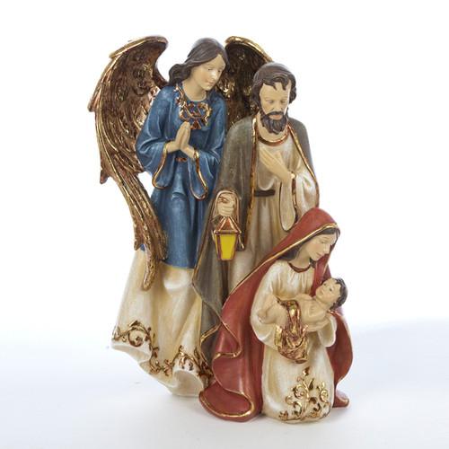 "12.25"" Holy Family Joseph and Angel Christmas Tabletop Decor - IMAGE 1"