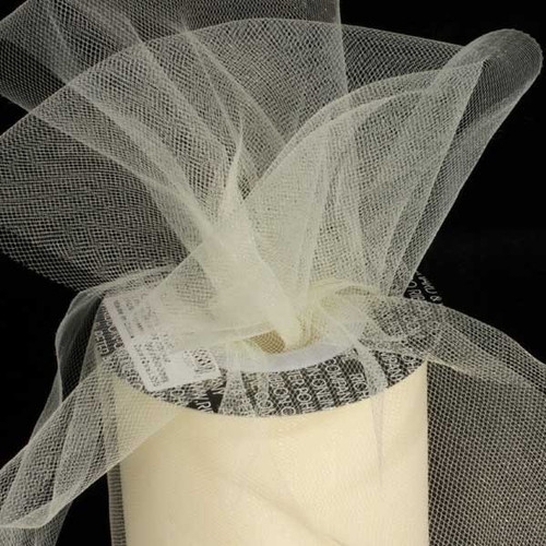 Designer White Tulle Craft Ribbon 3 x 550 Yards - IMAGE 1