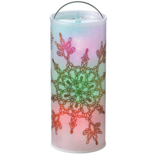 """12"""" Battery Operated White LED Color Changing Snowflake Christmas Lantern - IMAGE 1"""