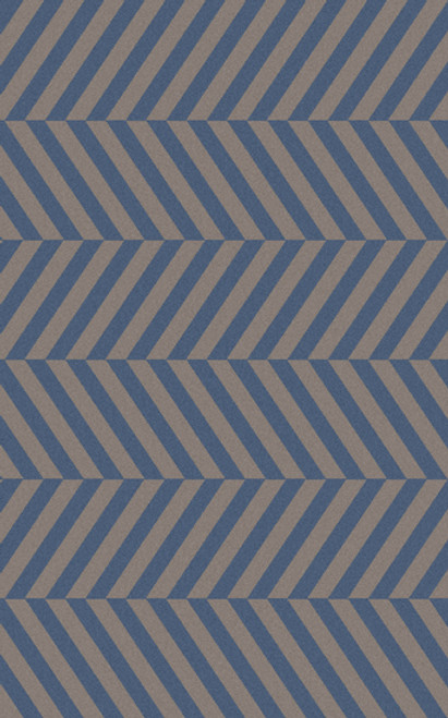 8' x 11' Aeonian Chevron Ribbons Azure Blue and Steel Gray Reversible Hand Tufted Rectangular Area Throw Rug - IMAGE 1