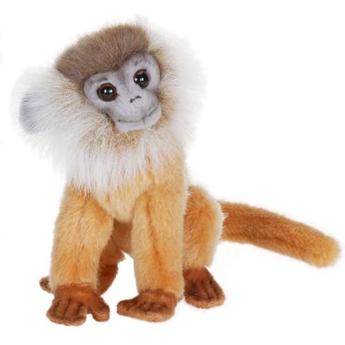 "Set of 4 White Handcrafted Extra Soft Plush Brown Leaf Monkey Stuffed Animals 7"" - IMAGE 1"