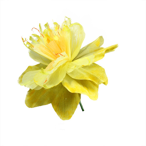 """30"""" Yellow and Green Spring Floral Artificial Craft Stem - IMAGE 1"""
