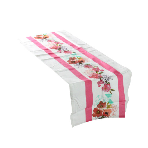 """Spring Bloom Colorful Floral Table Runner 16"""" x 54"""" - IMAGE 1"""