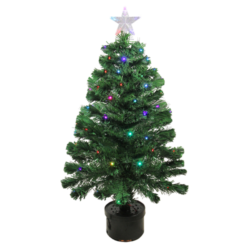 3' Pre-Lit LED Color Changing Fiber Optic Christmas Tree with Star Tree Topper - IMAGE 1