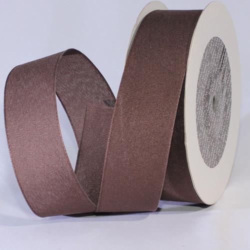 "Espresso Brown Solid Taffeta Wired Craft Ribbon 1.5"" x 100 Yards - IMAGE 1"