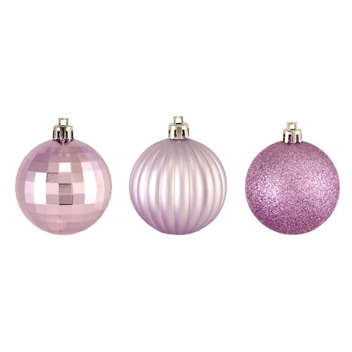 "100ct Purple Shatterproof 3-Finish Christmas Ball Ornaments 2.5"" (60mm) - IMAGE 1"