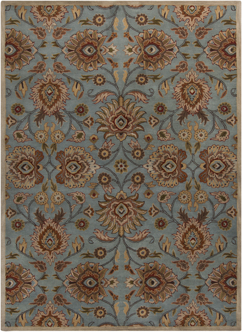 8' x 11' Floral Vibrantly Colored Rectangular Area Throw Rug - IMAGE 1