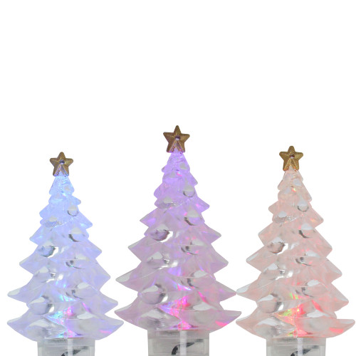 4 Multi-Color LED Christmas Tree Holiday Lights - 3.25 ft Green Wire - IMAGE 1