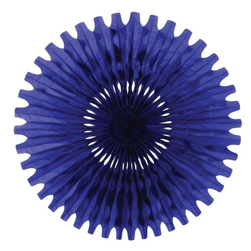 """Club Pack of 12 Blue Tissue Fan Hanging Decorations 25"""" - IMAGE 1"""