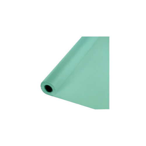 100' Mint Green Contemporary Heavy-Duty Banquet Tablecover Roll - IMAGE 1