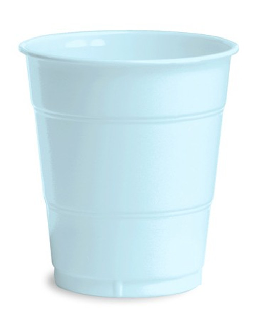 Club Pack of 240 Baby Blue Premium Disposable Pastel Drinking Party Tumbler Cups 12 oz. - IMAGE 1