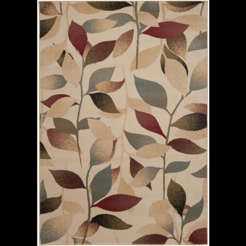 3' x 8' Dark Red and Brown Rectangle Area Throw Rug - IMAGE 1