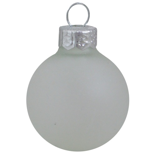 """Clear White Matte Finish Glass Ball Christmas Ornament 7"""" (180mm) - IMAGE 1"""