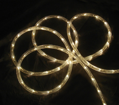 18' Warm Clear LED Outdoor Christmas Rope Lights - IMAGE 1