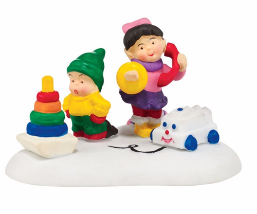 """2"""" Yellow and Pink Fisher Price Toys Christmas Tabletop Decor - IMAGE 1"""