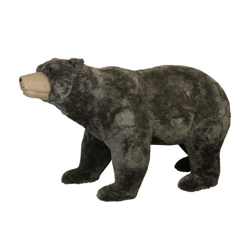 6' Commercial Life-Sized Walking Plush Brown Bear Christmas Decoration - IMAGE 1