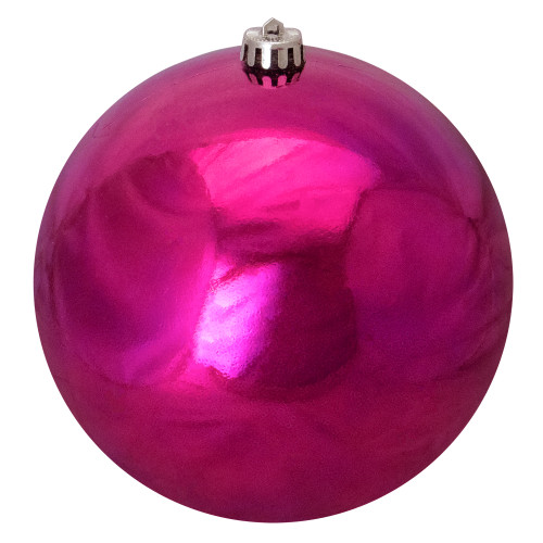 """Shiny Purple Shatterproof Commercial Size Christmas Ball Ornament 8"""" (200mm) - IMAGE 1"""