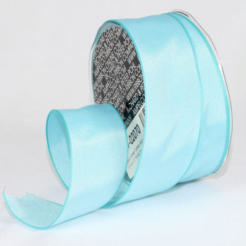 """Turquoise Blue Solid Wired Craft Ribbon 1.5"""" x 27 Yards - IMAGE 1"""