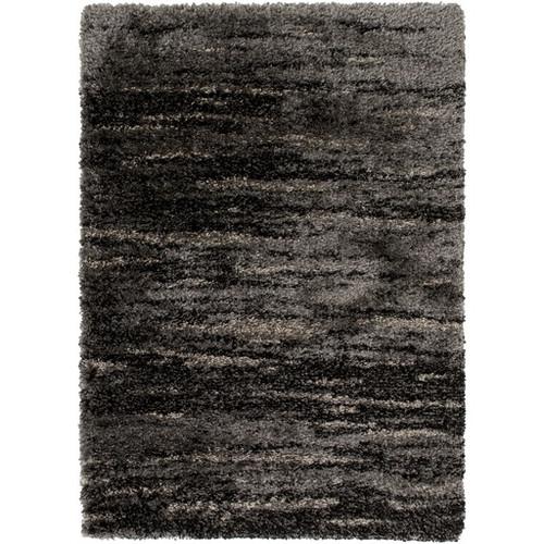 2' x 3.6' Navajo Whirlwind Stone Gray and Charcoal Black Area Throw Rug - IMAGE 1