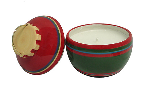 "Set of 2 Red and Green Jar Candles Christmas Ornament 5.25"" - IMAGE 1"