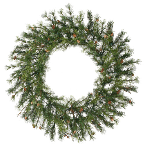 Mixed Country Pine Artificial Christmas Wreath - 60-Inch, Unlit - IMAGE 1