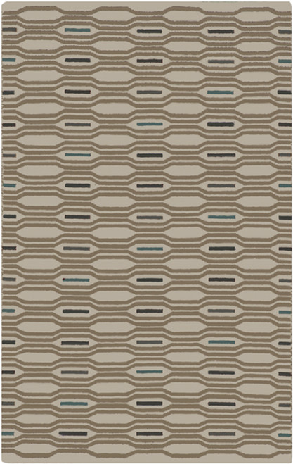 3.5' x 5.5' Honeycomb Bliss Brown and Gray Hand Woven Rectangular Wool Area Throw Rug - IMAGE 1