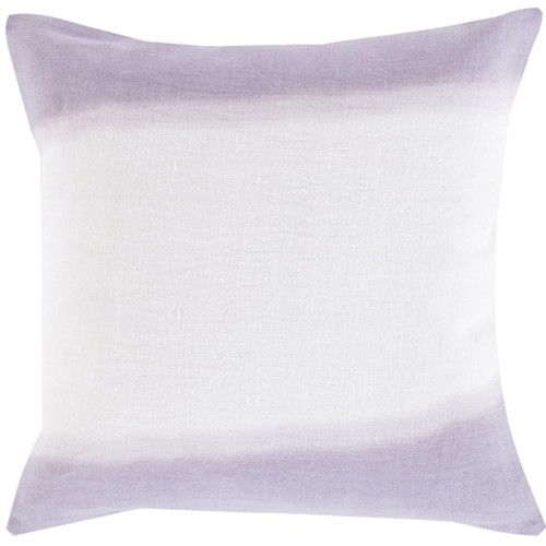 """18"""" Lavender and White Double Dip Decorative Throw Pillow - Down Filler - IMAGE 1"""