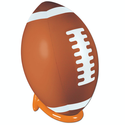 """39"""" Brown and White Inflatable Superbowl Footballs - IMAGE 1"""