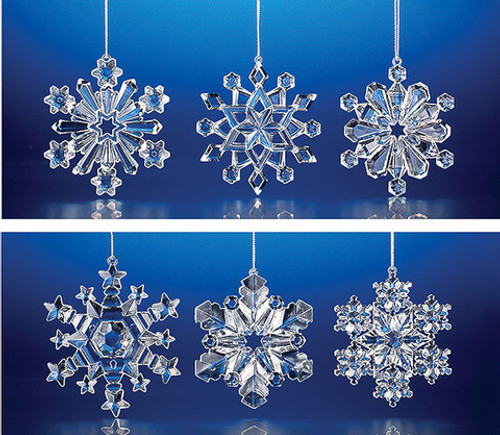 """Club Pack of 48 Clear Icy Christmas Snowflake Ornaments 3"""" - IMAGE 1"""
