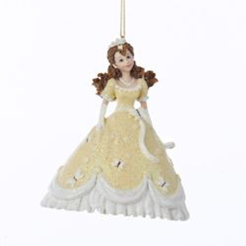 "4.25"" Pretty as a Princess Marcella in Yellow Gown Christmas Ornament - IMAGE 1"
