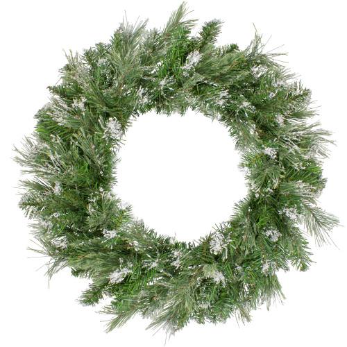 Snow Mountain Pine Artificial Christmas Wreath - 24 Inch, Unlit - IMAGE 1