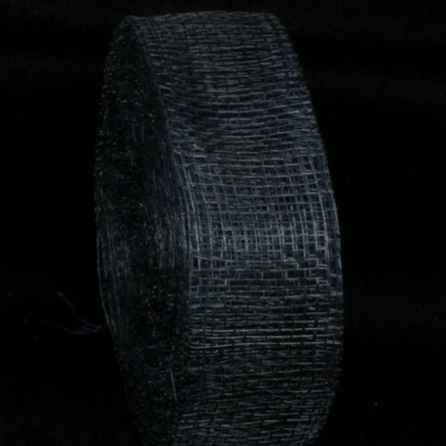 "Navy Blue Fiber Wired Craft Ribbon 1.5"" x 96 Yards - IMAGE 1"