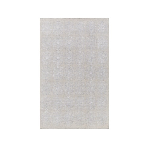 2' x 3' Perpetual Leitmotif White and Gray Hand Woven Area Throw Rug - IMAGE 1