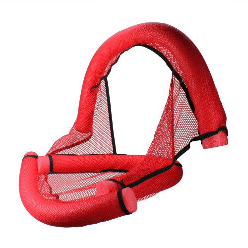 Inflatable Red and Black Foam Noodle Fun Seat , 30-Inch - IMAGE 1