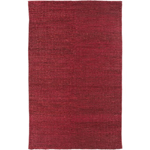 3.5' x 5.5' Burgundy Red Hand Woven Area Throw Rug - IMAGE 1
