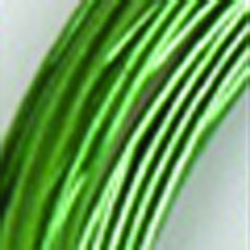 1mm Glistening Green Designer Aluminum Wire- Approximately 255 Yards - IMAGE 1