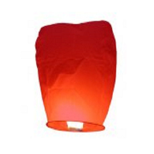 Pack of 4 Red Asian-Inspired Chinese Sky Lantern Party Luminaries - IMAGE 1