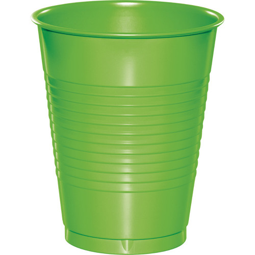 Club Pack of 240 Fresh Lime Green Disposable Drinking Party Cups 16 oz. - IMAGE 1