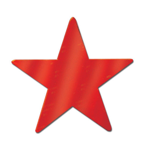"""Club Pack of 36 Starry Night Themed Red Metallic Foil Star Cutout Party Decorations 9"""" - IMAGE 1"""