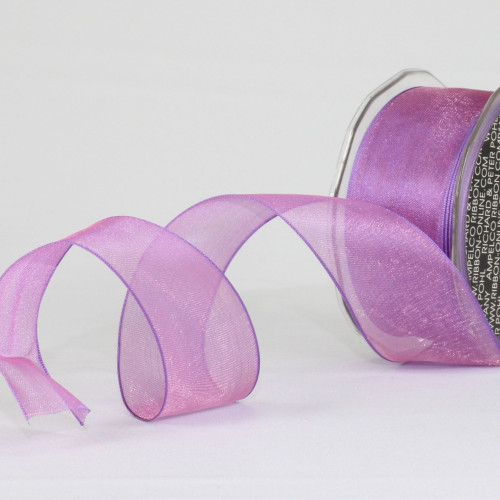 "Sheer Purple Wired Edge Craft Ribbon 1.5"" x 27 Yards - IMAGE 1"