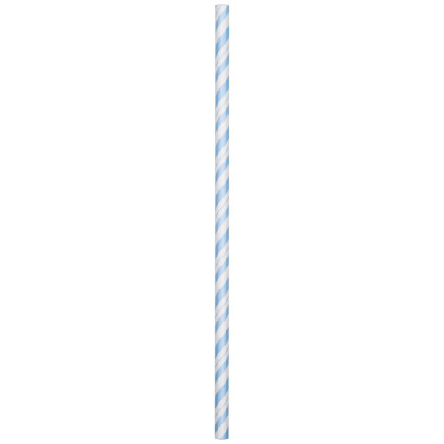 """Club Pack of 288 Pastel Blue and White Striped Straws 7.75"""" - IMAGE 1"""