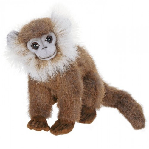 "Set of 4 Brown and White Handcrafted Plush Gray Leaf Monkey Stuffed Animals 7"" - IMAGE 1"