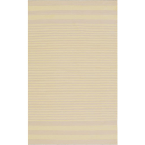 3.25' x 5.25' Beige and Gray Hand-Woven Area Throw Rug - IMAGE 1