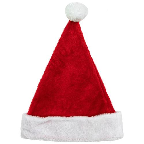 Red and White Santa Unisex Adult Christmas Hat Costume Accessory - Medium - IMAGE 1