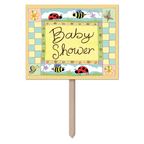 """Pack of 6 Blue and Red Fun Baby Shower Yard Sign Decors 24"""" - IMAGE 1"""