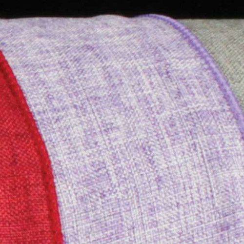 """Lavender Solid Wired Craft Ribbon 2.5"""" x 40 Yards - IMAGE 1"""